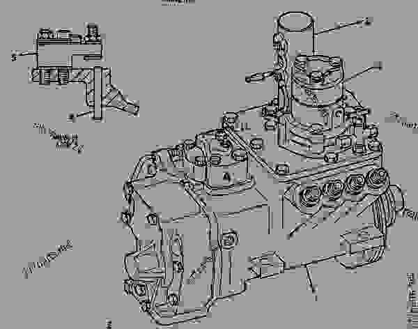 caterpillar 3208 parts exploded diagram