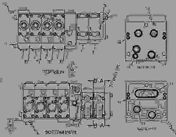 Схема запчастей 2959841 VALVE GROUP-AUXILIARY  -KIT, VALVE, STD, 8TH FCTN MECH - Экскаваторы-погрузчики Caterpillar 422E - 422E Backhoe Loader Single Tilt Side Shift Boom HBE00001-UP (MACHINE) POWERED BY 3054C Engine HYDRAULIC SYSTEM | 777parts