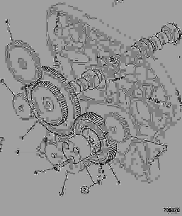 Схема запчастей CAMSHAFT, & TIMING GEARS - CONSTRUCTION JCB 320/40067 - JCB444 4 CYLINDER ENGINE PARTS CATALOGUE, 9802/2940 ENGINE 4 CYLINDER TURBOCHARGED CAMSHAFT & TIMING GEARS CAMSHAFT, & TIMING GEARS | 777parts