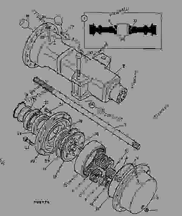 Схема запчастей AXLE, DRIVE ASSEMBLY, 18.16:1, 462/16600 - CONSTRUCTION JCB .PD55 - INTERNATIONAL TRANSMISSIONS LTD, 9802/1010 PD70 AXLE AXLE PD70 MAXTRAC AXLE, DRIVE ASSEMBLY, 18.16:1, 462/16600 | 777parts