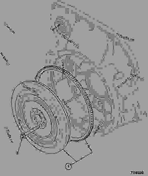 Схема запчастей FLYWHEEL ASSEMBLY, P42 VOITH COUPLING - ITL JCB 320/50030 - JCB444 4 CYLINDER ENGINE PARTS CATALOGUE, 9802/2910 4 CYLINDER NATURALLY ASPIRATED FLYWHEEL ASSEMBLY FLYWHEEL ASSEMBLY, P42 VOITH COUPLING | 777parts