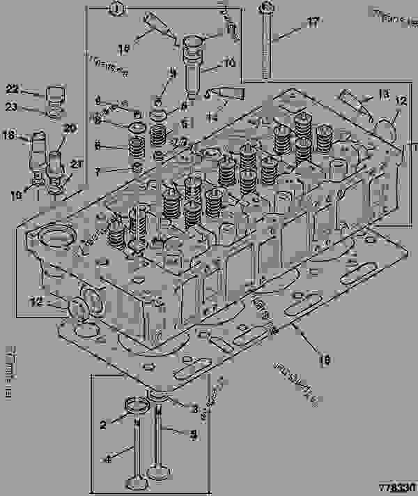 Схема запчастей CYLINDER HEAD, ASSEMBLY - GEN JCB 320/40201 - JCB DIESELMAX OWNER PARTS CATALOGUE, 9812/2350 JCB DIESELMAX ENGINE MT3 CYLINDER HEAD CYLINDER HEAD, ASSEMBLY | 777parts