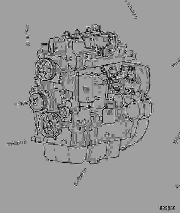 Схема запчастей ENGINE, COMPLETE, 320/50016 - GEN JCB 320/40057 - JCB444 4 CYLINDER ENGINE PARTS CATALOGUE, 9802/2910 4 CYLINDER NATURALLY ASPIRATED ENGINE ASSEMBLIES ENGINE, COMPLETE, 320/50016 | 777parts