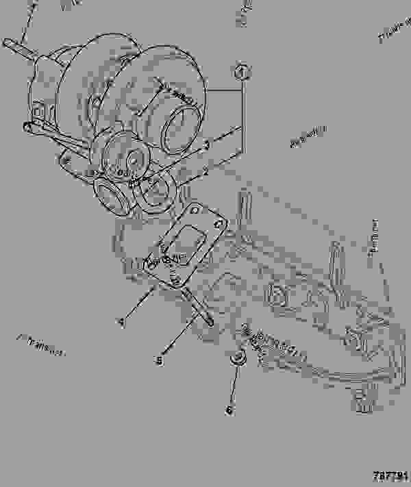Схема запчастей TURBOCHARGER, TCA - 74KW, VERTICAL - AGRICULTURAL JCB 320/40130 - JCB DIESELMAX OWNER PARTS CATALOGUE, 9812/2350 JCB DIESELMAX ENGINE MT3 TURBOCHARGER TURBOCHARGER, TCA - 74KW, VERTICAL | 777parts