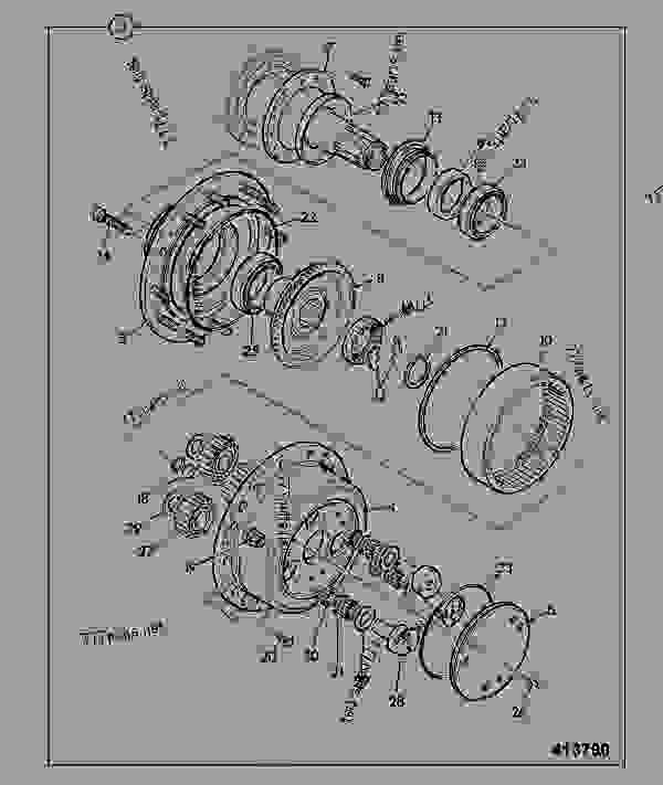 Схема запчастей HUB & COMPONENTS, 462/20320 - CONSTRUCTION JCB .PD55 - INTERNATIONAL TRANSMISSIONS LTD, 9802/1010 PD90 AXLE AXLE, PAD MOUNT PD90 HUB & COMPONENTS, 462/20320 | 777parts