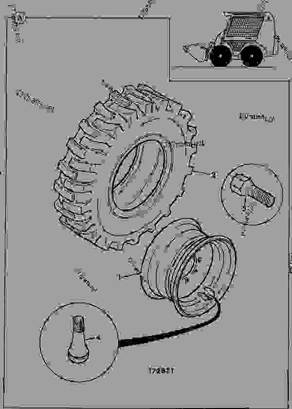 Схема запчастей WHEELS & TYRES, 12 X 16.5, PNEUMATIC - CONSTRUCTION JCB ROBOT 1105 - JCB ROBOT LOADER, 9802/4510, M746001- AXLES, WHEELS & TRANSMISSION WHEELS, TYRES & PROPSHAFTS WHEELS & TYRES, 12 X 16.5, PNEUMATIC | 777parts
