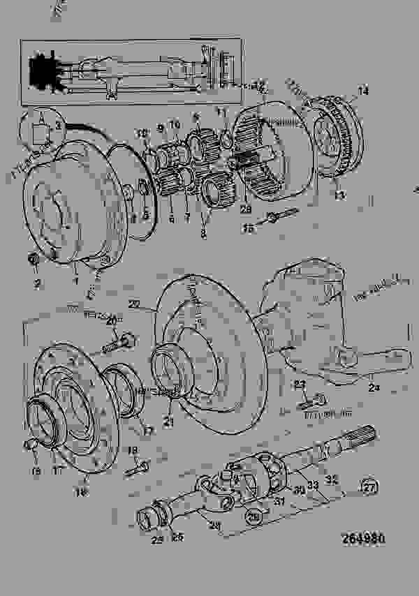 Схема запчастей HUB & COMPONENTS, FRONT LEFT HAND - CONSTRUCTION JCB FASTRAC 2135 - FASTRAC, 9802/6650, M738001- AXLES, WHEELS & TRANSMISSION AXLES, FRONT HUB & COMPONENTS, FRONT LEFT HAND | 777parts