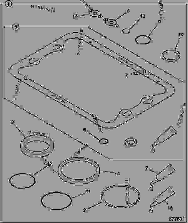 Схема запчастей SEAL KIT, OIL PAN - AGRICULTURAL JCB 320/40102 - JCB DIESELMAX OWNER PARTS BOOK, 9812/2300 JCB DIESELMAX ENGINE ASSEMBLY, COMPONENTS GASKET SETS SEAL KIT, OIL PAN | 777parts