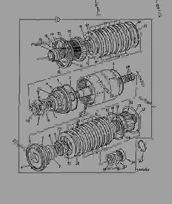 Схема запчастей TRANSMISSION, SS640 MANUAL, REVERSER UNIT 460/19200 - CONSTRUCTION JCB PS725 - TRANSMISSIONS, 9802/1020 SS640 TRANSMISSION SS640 TRANSMISSION, 4WD MANUAL TRANSMISSION, SS640 MANUAL, REVERSER UNIT 460/19200 | 777parts
