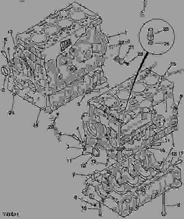 Схема запчастей CYLINDER BLOCK, ASSEMBLY - CONSTRUCTION JCB 320/40031 - JCB444 4 CYLINDER ENGINE PARTS CATALOGUE, 9802/2910 4 CYLINDER NATURALLY ASPIRATED CYLINDER BLOCK ASSEMBLY CYLINDER BLOCK, ASSEMBLY | 777parts