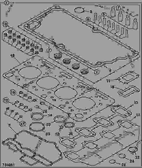 Схема запчастей GASKET SET, TOP OVERHAUL - GEN JCB 320/40076 - JCB444 4 CYLINDER ENGINE PARTS CATALOGUE, 9802/2940 ENGINE 4 CYLINDER TURBOCHARGED GASKET SETS GASKET SET, TOP OVERHAUL | 777parts