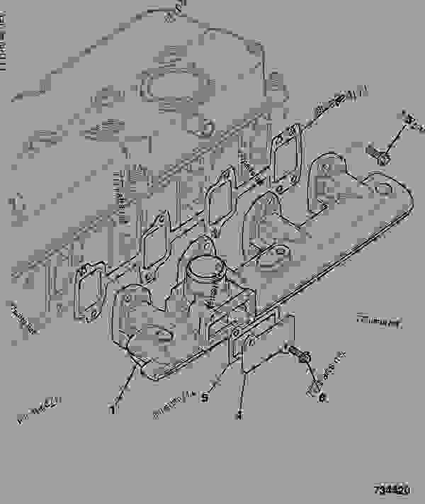 Схема запчастей INDUCTION MANIFOLD - GEN JCB 320/40201 - JCB DIESELMAX OWNER PARTS CATALOGUE, 9812/2350 JCB DIESELMAX ENGINE MT3 INDUCTION MANIFOLD INDUCTION MANIFOLD | 777parts