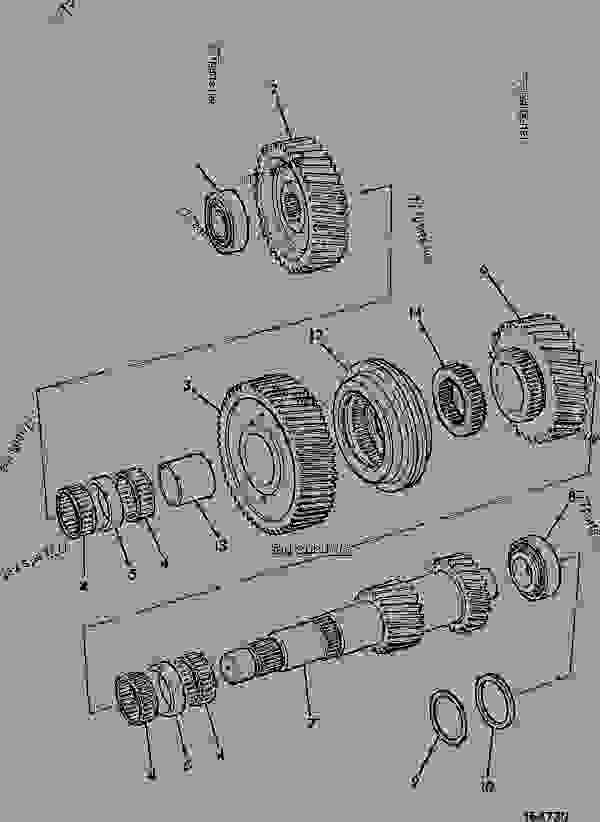 Схема запчастей SHAFT, INPUT, AND REVERSE GEAR, SYNCHRO RANGEBOX ( SPICER ) - CONSTRUCTION JCB FASTRAC 145t-40 - FASTRAC & CONTRACTOR, 9802/6500, M635001- AXLES, WHEELS & TRANSMISSION RANGE GEARBOX, 3 SPEED SHAFT, INPUT, AND REVERSE GEAR, SYNCHRO RANGEBOX ( SPICER ) | 777parts