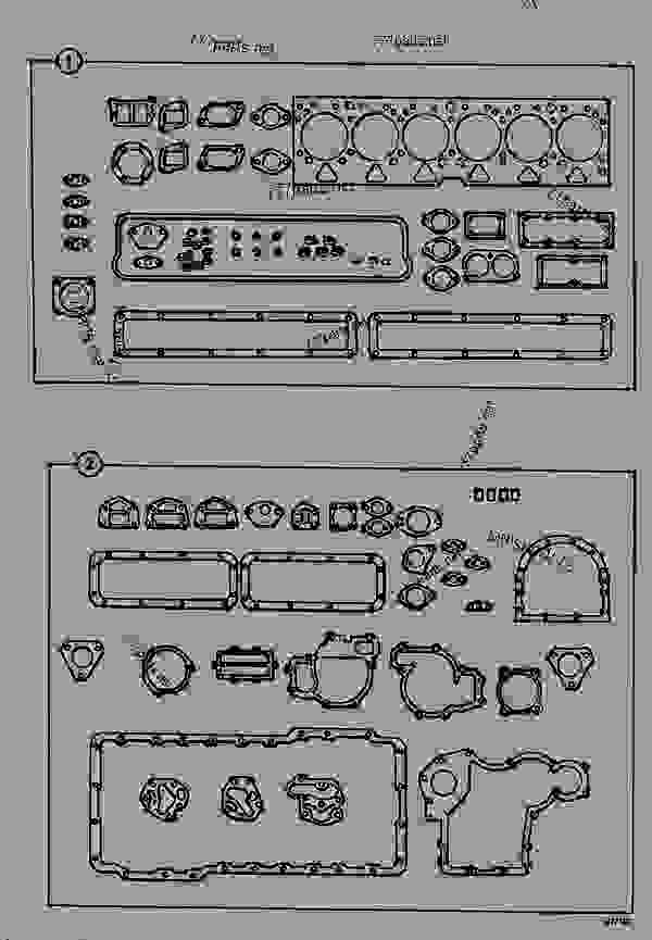 Схема запчастей GASKET SETS, TU BUILD - CONSTRUCTION JCB 820 - CRAWLER EXCAVATOR, 9802/5300, 201500/78600- ENGINE 6.354.4/T6.354.4 GASKET SETS GASKET SETS, TU BUILD | 777parts