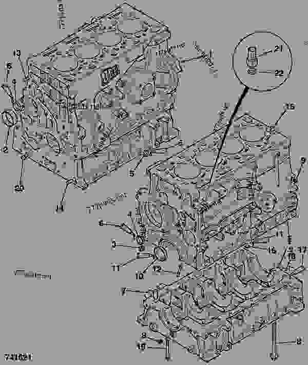 Схема запчастей CYLINDER BLOCK, ASSEMBLY - ITL JCB 320/40090 - JCB444 4 CYLINDER ENGINE PARTS CATALOGUE, 9802/2940 ENGINE 4 CYLINDER TURBOCHARGED CYLINDER BLOCK ASSEMBLY CYLINDER BLOCK, ASSEMBLY | 777parts
