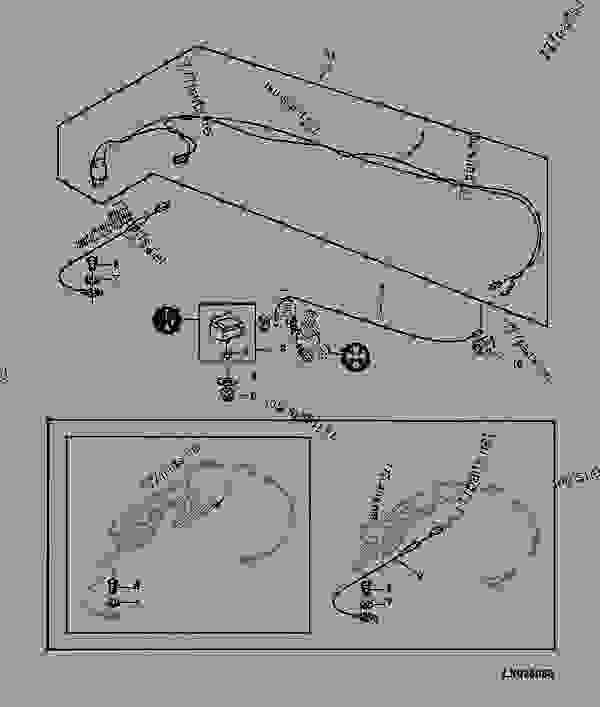 wiring harness/air conditioning switch for sg2 cab [66 ... 4450 john deere wire schematics