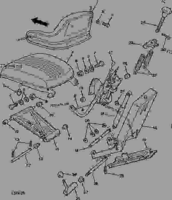 Схема запчастей DELUXE SEAT ASSEMBLY (TRACTOR SERIAL NO. 046140-092139) [02B23] - ТРАКТОР John Deere 820 - TRACTOR - 820 Utility Tractor (North American Version) 90 OPERATOR'S STATION DELUXE SEAT ASSEMBLY (TRACTOR SERIAL NO. 046140-092139) [02B23] | 777parts