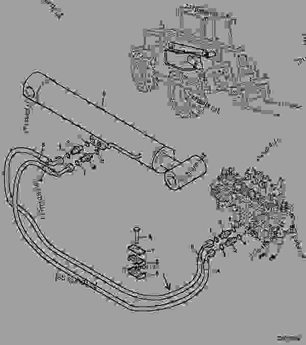 Telescoping Lift Arms On John Deere Tractor : Hydraulic system control valve telescopic arm lift