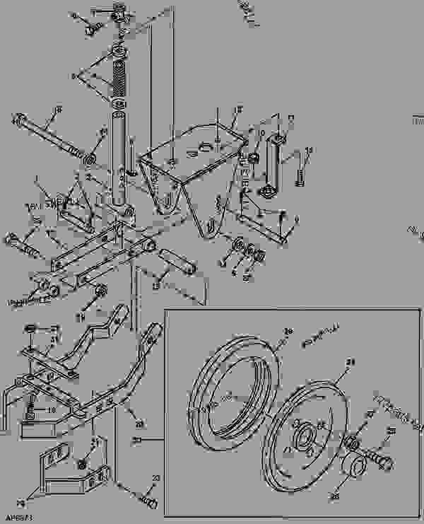 Схема запчастей DRAG CLOSING ATTACHMENT  (NOV98 - ) - СЕЯЛКА, TRU-VEE John Deere 1530 - DRILL, TRU-VEE - 1530 Tru-Vee Drill ROW UNITS DRAG CLOSING ATTACHMENT  (NOV98 - ) | 777parts