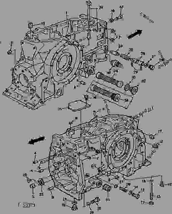 Схема запчастей TRANSMISSION CASE [01G11] - ТРАКТОР John Deere 820 - TRACTOR - 820 Utility Tractor (North American Version) 50 POWER TRAIN TRANSMISSION CASE [01G11] | 777parts