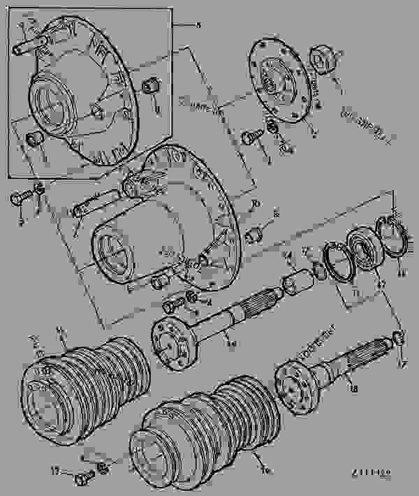Схема запчастей MOTOR PULLEY [01C24] - КОМБАЙН John Deere 1188HY/4 - COMBINE - 1188, 1188HY/4 Combines 20 ENGINE MOTOR PULLEY [01C24] | 777parts