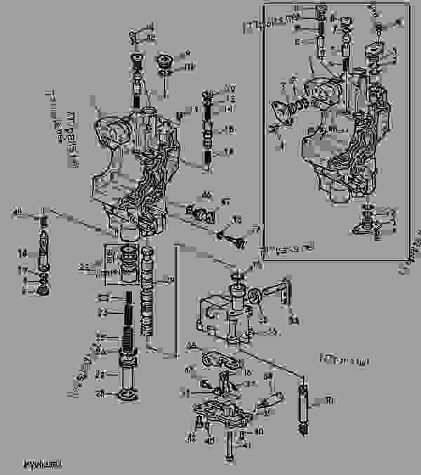 Схема запчастей CONTROL VALVE - ДВИГАТЕЛЬ, POWERTECH John Deere 6068HL271 - ENGINE, POWERTECH - 6615 and 6715 Tractors (North American Edition) POWRREVERSER TRANSMISSION CONTROL VALVE | 777parts