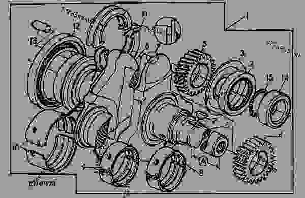 Схема запчастей CRANKSHAFT / BEARINGS - KIT - ТРАКТОР John Deere 6400L - TRACTOR - 6200L, 6300L, 6400L and 6500L Tractors (North American Edition) ДВИГАТЕЛЬ CRANKSHAFT / BEARINGS - KIT | 777parts
