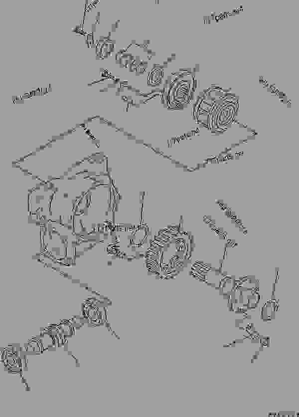 Схема запчастей CIRCLE REVERSE GEAR (2/2) - Автогрейдер Komatsu GD511A-1 - WORK EQUIPMENT | 777parts
