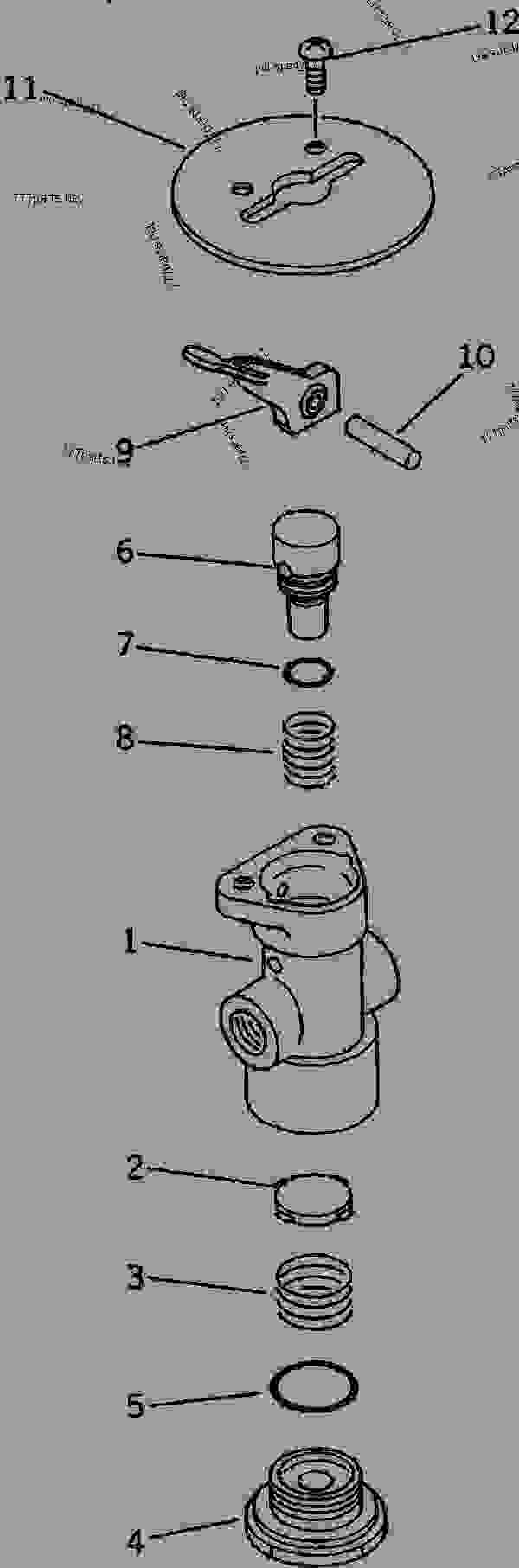Схема запчастей PARKING BRAKE VALVE - Самосвал Komatsu HD205-3 - DRIVE SHAFT? DIFFERENTIAL? WHEELS AND AIR SYSTEM | 777parts