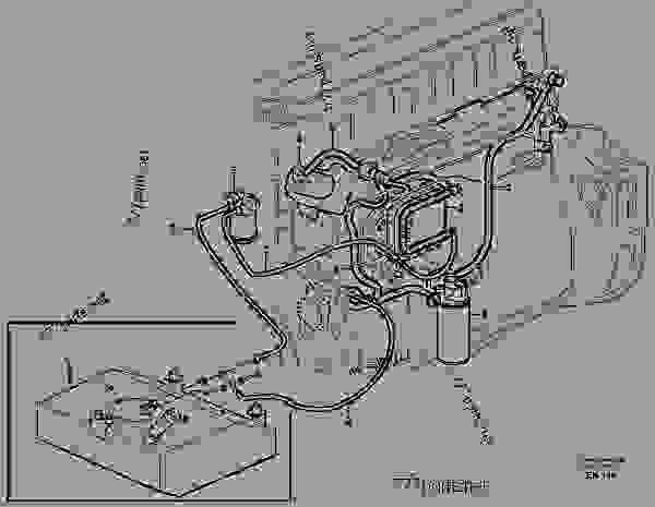 Схема запчастей Fuel system - Фронтальный погрузчик Volvo L220E - Engine with mounting and equipment Fuel system General | 777parts