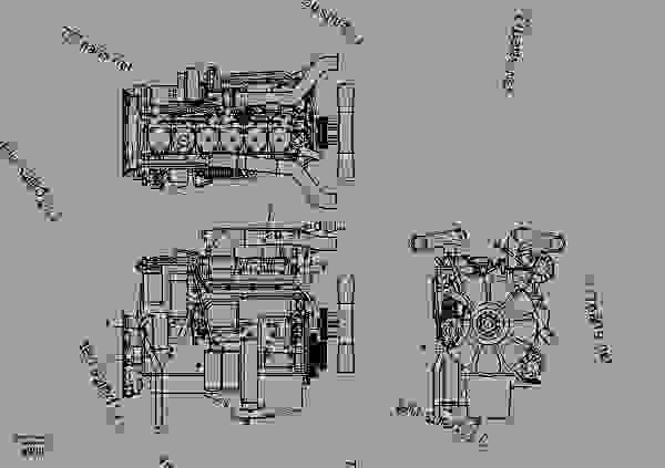 Схема запчастей Engine - Эксковаторы Volvo EC360B - Engine with mounting and equipment Engine General | 777parts